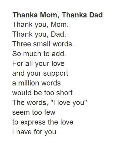 poems for parents new poems and quotes quotesgram