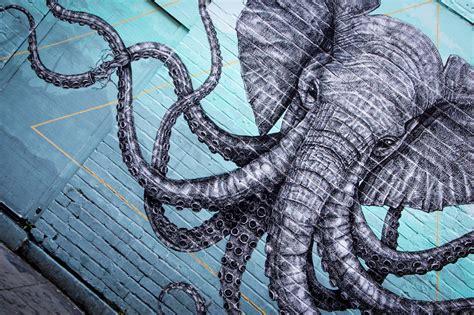 fond decran graphique vert streetartist tentacules