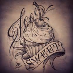 cupcake tattoo flash google search art drawings
