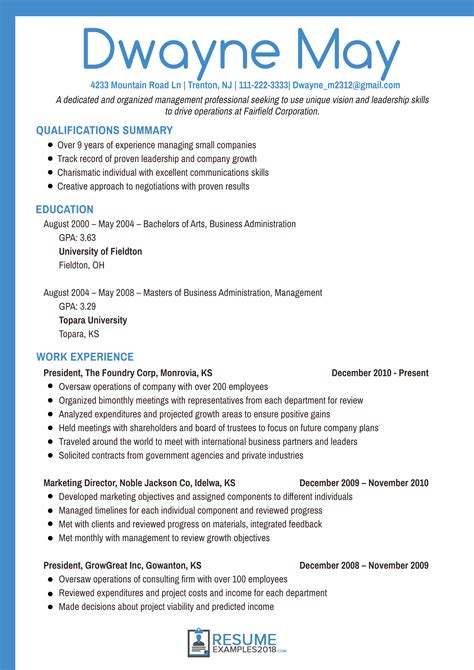 professional resume format 2018 best executive resume exles 2018 that work