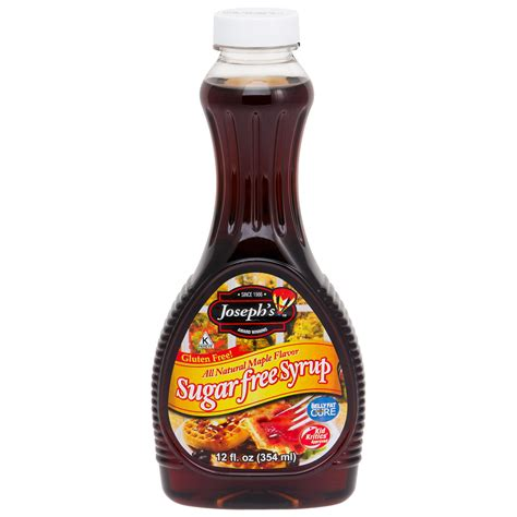 Maple Syrup by Sugar Free Maple Syrup 12 Oz Joseph S Original Dietdirect