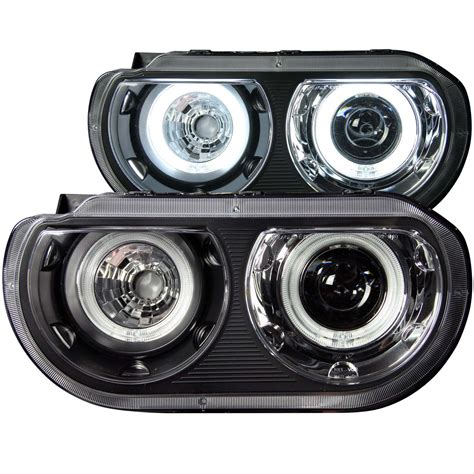 Halo Lights Anzo Usa Dodge Challenger 08 14 Projector Headlights