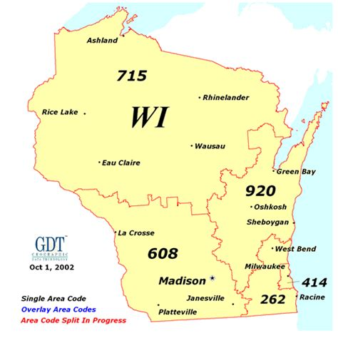 Search Wi Wisconsin Area Codes Map Wisconsin Map