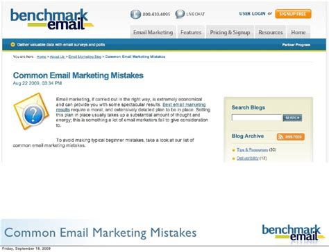 Email Marketing 2 by Common Email Marketing Mistakes Benchmark Email