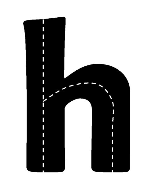 printable highway letters highway abc cards print the