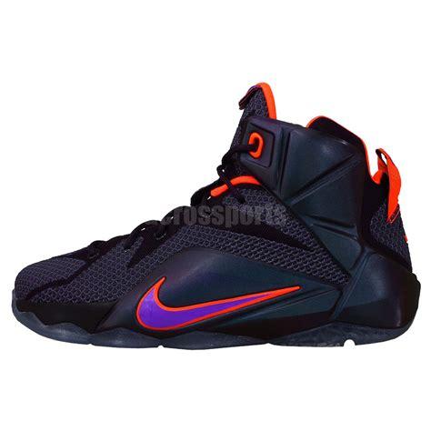 purple boys basketball shoes nike lebron xii gs 12 instinct purple king youth