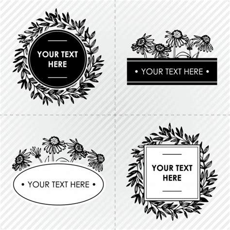 cornici bianco e nero cornici floreali in bianco e nero scaricare vettori gratis