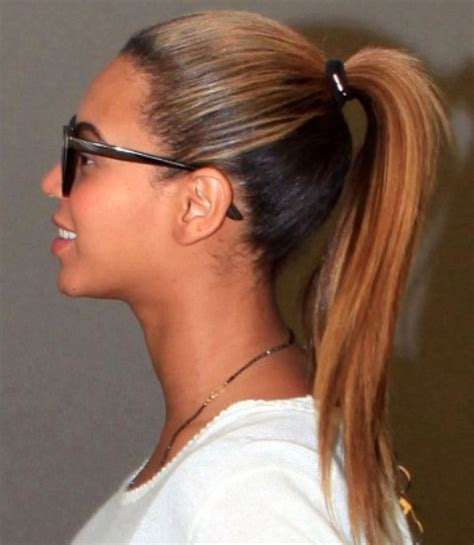 beyonce hairstyles youthful ponytail pretty designs
