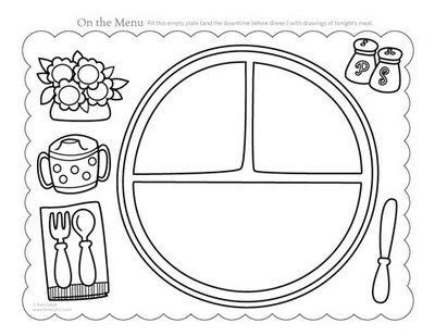 Placemat Printable Modify Template By Adding Grace Before Meals Prayer Have Kids Color For Photo Placemat Template