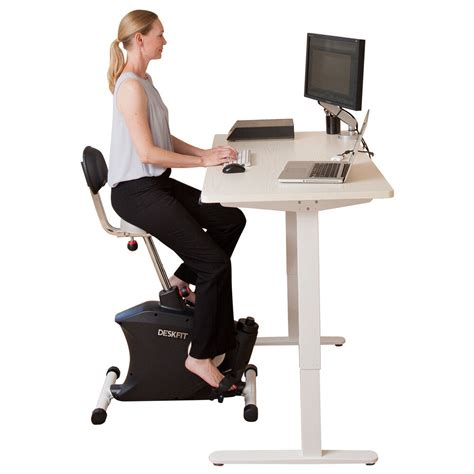 exercise bike stand up desk height adjustable