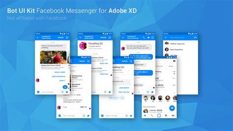Free Bot Ui Kit Facebook Messenger Adobe Xd On Behance Free Chatbot Templates
