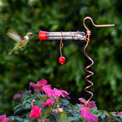 flower pot hummingbird feeder copper hummingbird feeders