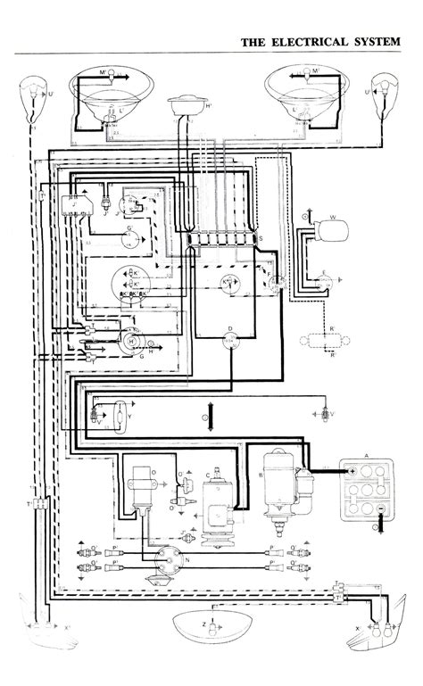 vw bug wiring diagram for dune buggy 36 wiring diagram