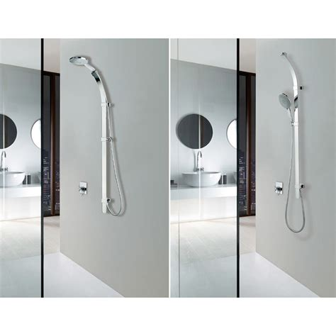 bathroom water outlet bossini shower side rail set flat with water outlet