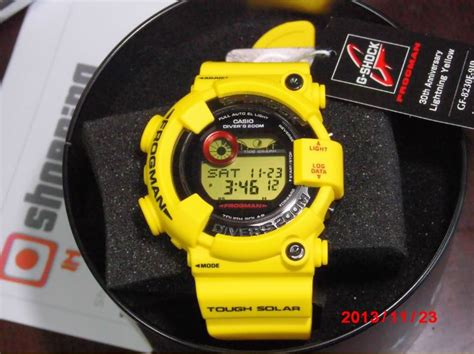 Casio G Shock Gf 8230e 9dr casio g shock frogman gf 8230e 9jr lightning yellow