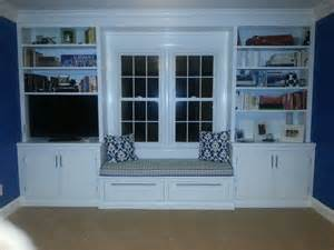 Built In Bookshelves Around Window Built In Bookshelves And Window Seat For The Home
