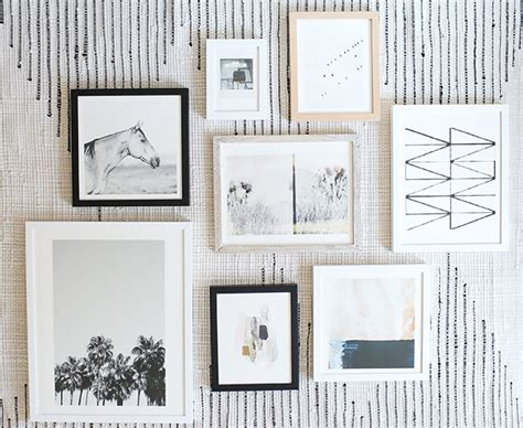 how to do a gallery wall how to curate art for a collage gallery wall minted