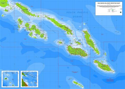 solomon islands map salomon inseln karte gemeinden