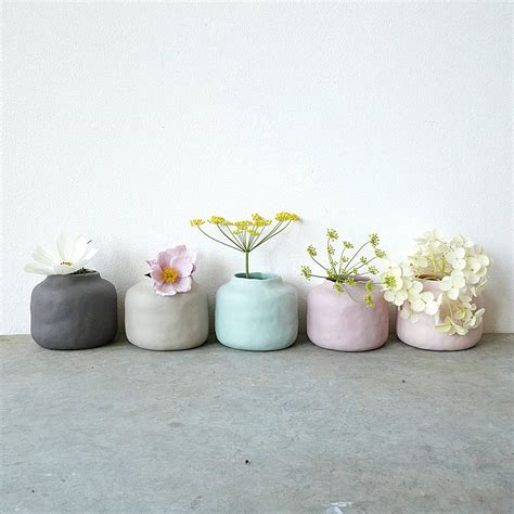 Pastel Vase by Five Muted Pastel Porcelain Vase Pots By Lilac Coast