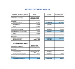 tax chart sle payroll tax calculator 7 free documents in pdf