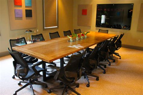Oak Meeting Table Braylon Conference Office Atlanta Rustic Trades Furniture