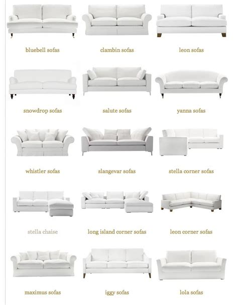 different types of couches sofas from sofa com the dry oyster home pinterest