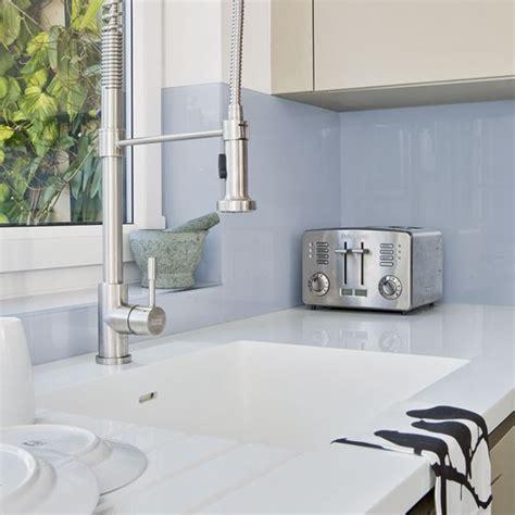 kitchen sink splashback blue glass splashback kitchen splashbacks kitchen
