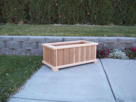 patio planter rectangular wood country