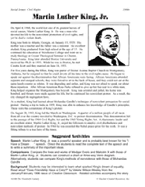 martin luther king jr biography for middle school students the life and accomplishments of martin luther king jr