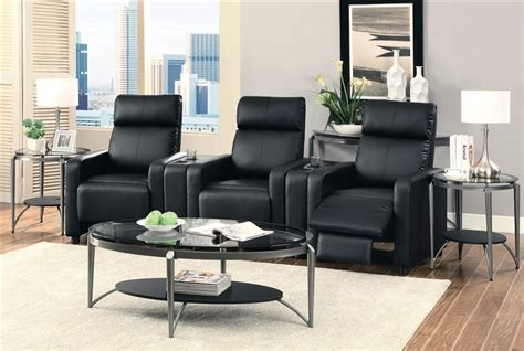 toohey contemporary  piece reclining home theater seating