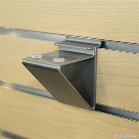 floating silver slatwall shelf bracket for glass shelving