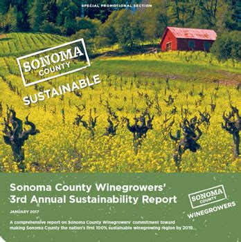 Annual Sustainability Report by 2016 Annual Sustainability Report Sonoma County Wine Growers