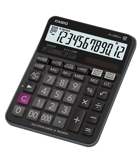 Casio Kalkulator Jj 120d Plus casio check recheck dj 120d plus calculator pack of 1