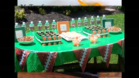 themed decorations football themed decorating ideas