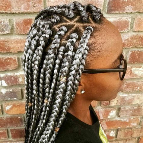 gray hair braid styles 58 best gray braids images on pinterest protective