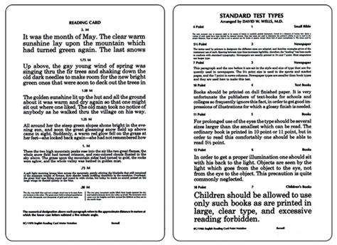 printable eye chart near vision near vision card