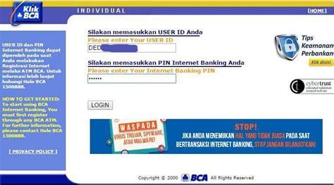 cara membuat rekening bca lewat online cara gang cek saldo bca lewat internet banking