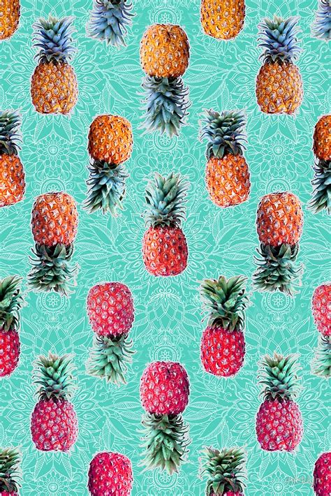 hawaiian pattern iphone wallpaper from pineapple to pink tropical doodle pattern on mint