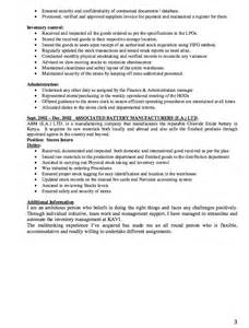 storekeeper resume example resumes design