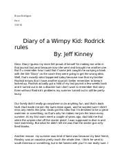 diary of a wimpy kid rodrick book report summary in the book diary o 178 a wimpy kid rodrick by je