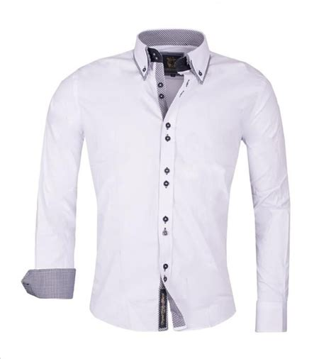 design your clothes uk carisma mens designer shirt in plain navy white cotton