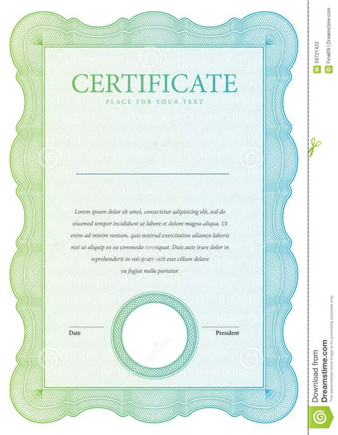 retro cer vintage certificate template diplomas currency stock