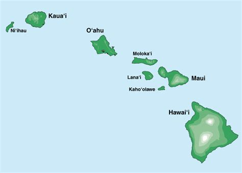 map of hawaii islands virtually hawaii island maps