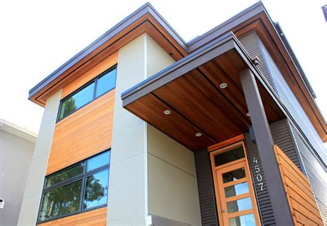 Narrow Passive House Vancouver Bc Modern Exterior Modern Home Plans Vancouver