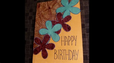 Easy And Beautiful Handmade Cards - simple and beautiful handmade birthday cards ideas easy
