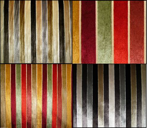 striped velvet upholstery fabric belluti wide striped velvet designer curtain upholstery