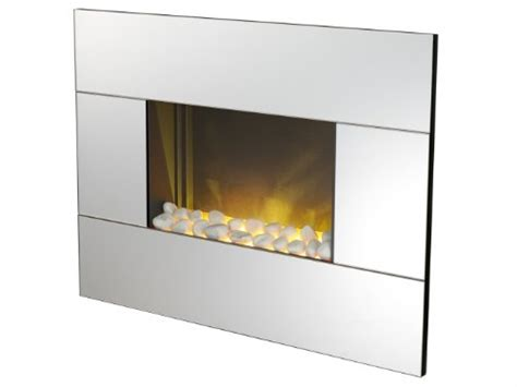 Mirrored Fireplace by Electric Wall Fireplace By Adam Nexus In Mirrored Glass