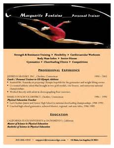 Gymnastic Instructor Cover Letter by Personal Trainer Resume Resume Sle Workalpha