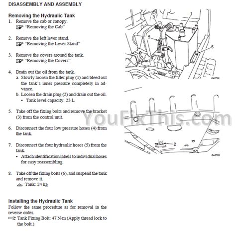 takeuchi tb53fr repair manual compact excavator 171 youfixthis