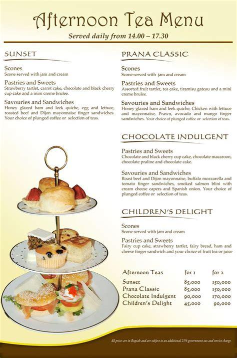 17 best images about tea menus on pinterest high tea menu bali and high tea
